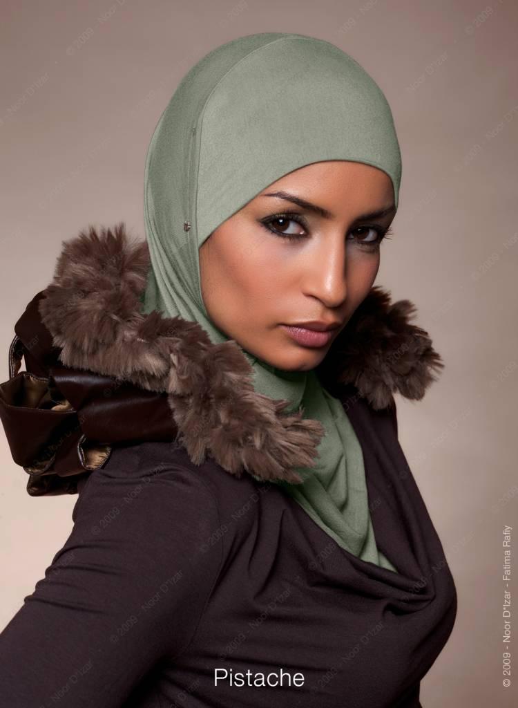 Noor D*Izar Suraya hoofddoek - Pistache