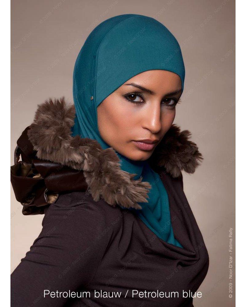 Noor D*Izar Suraya hoofddoek - Petroleum blauw kleur