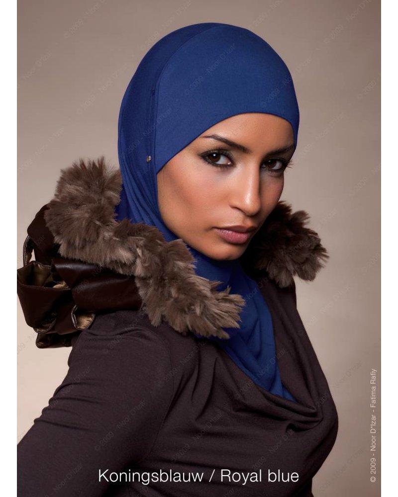 Noor D*Izar Suraya hoofddoek - Koningsblauw