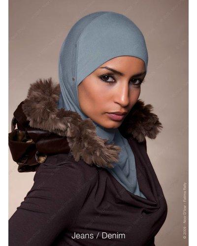 Noor D*Izar Suraya hijab - Denim colour