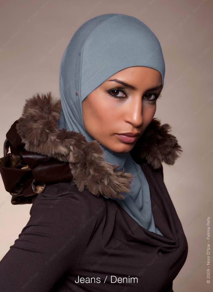 Noor D*Izar Suraya hoofddoek - Jeans kleur