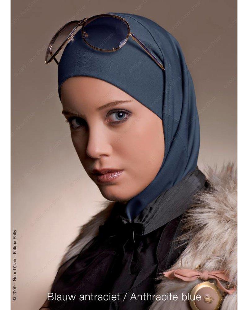 Noor D*Izar Imsar hoofddoek - Blauw antraciet
