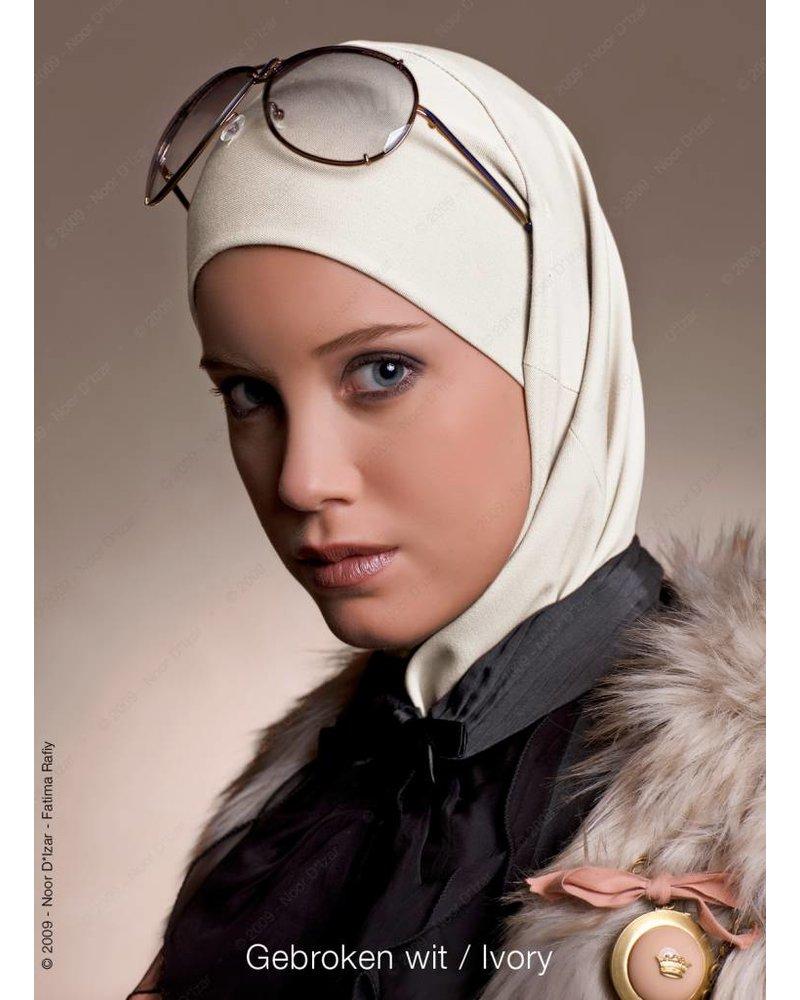 Noor D*Izar Imsar hoofddoek - Gebroken wit