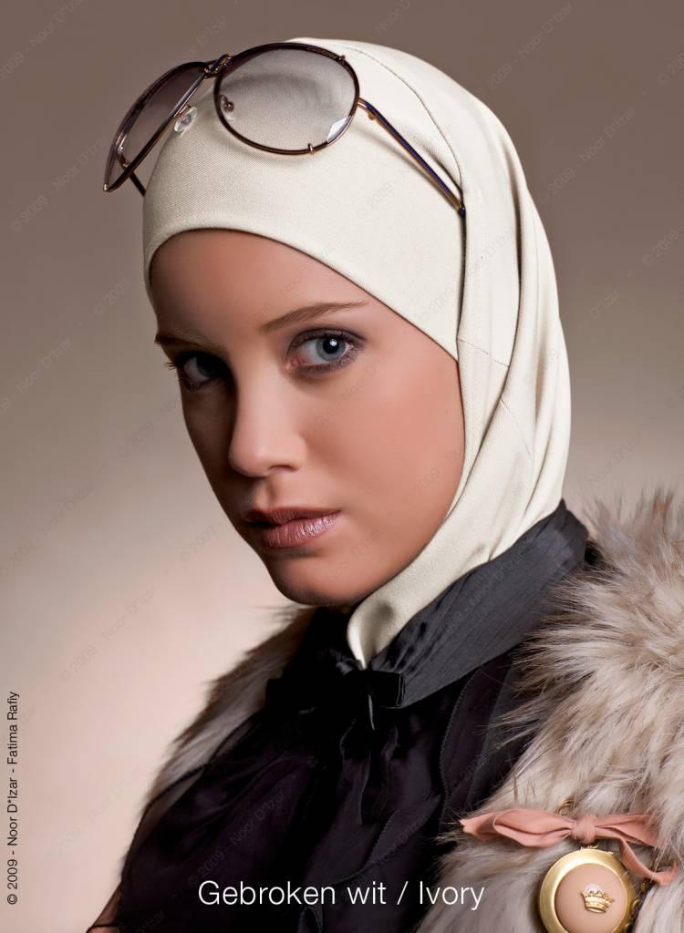 Noor D*Izar Imsar hijab - Ivory colour