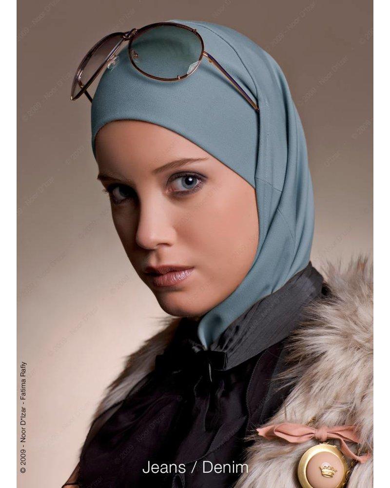 Noor D*Izar Imsar hoofddoek - Jeans kleur