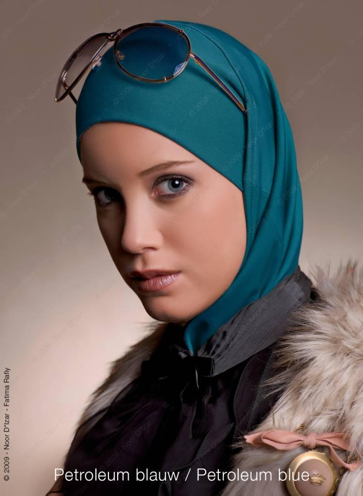 Noor D*Izar Imsar hoofddoek - Petroleum blauw