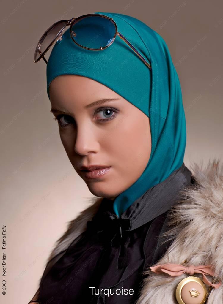 Noor D*Izar Imsar hoofddoek - Turquoise