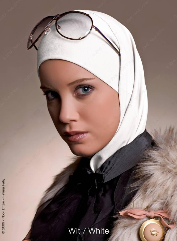 Noor D*Izar Imsar hoofddoek - Wit