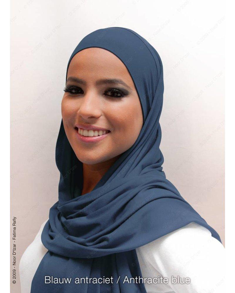 Noor D*Izar Indira hoofddoek - Blauw antraciet