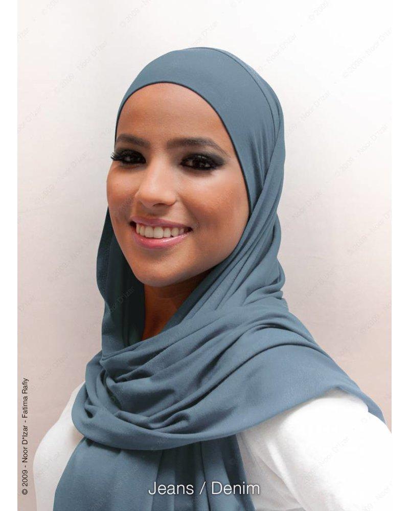 Noor D*Izar Indira hijab - Denim
