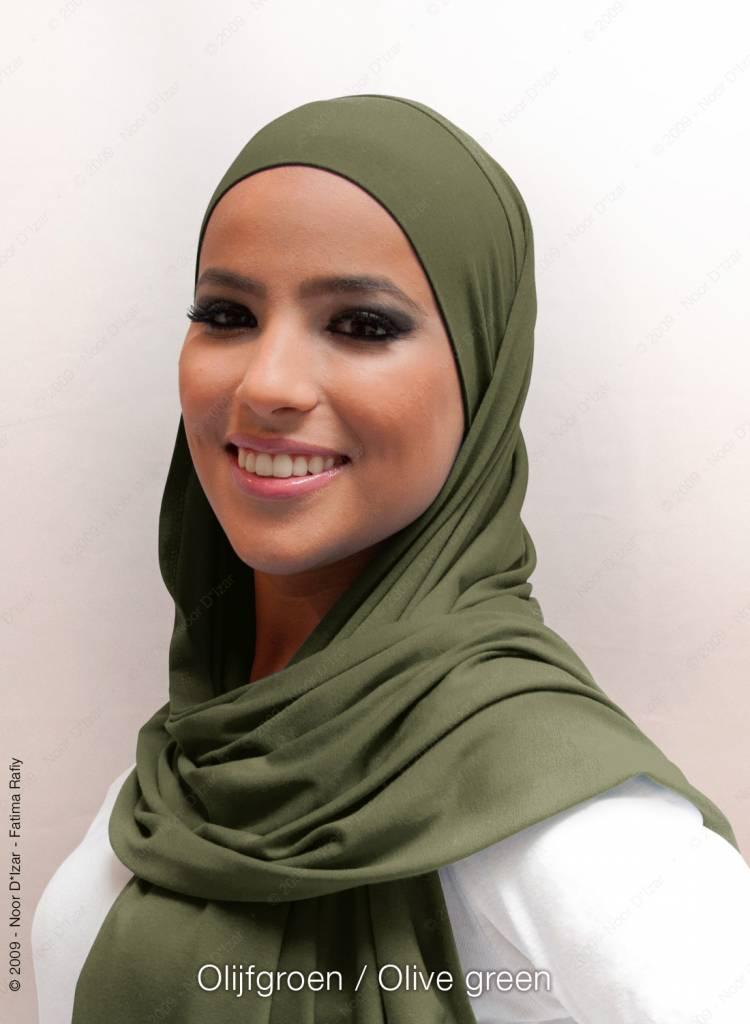 Noor D*Izar Indira hoofddoek - Olijf groen