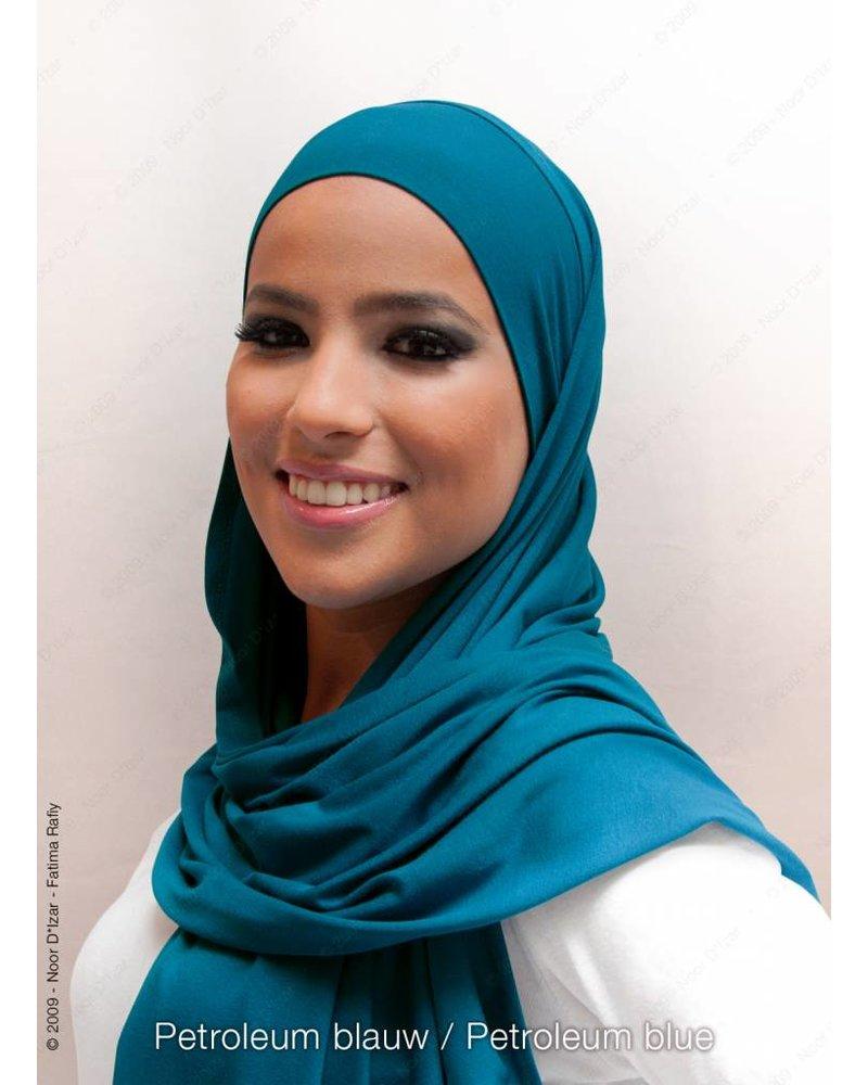 Noor D*Izar Indira hoofddoek - Petroleum blauw