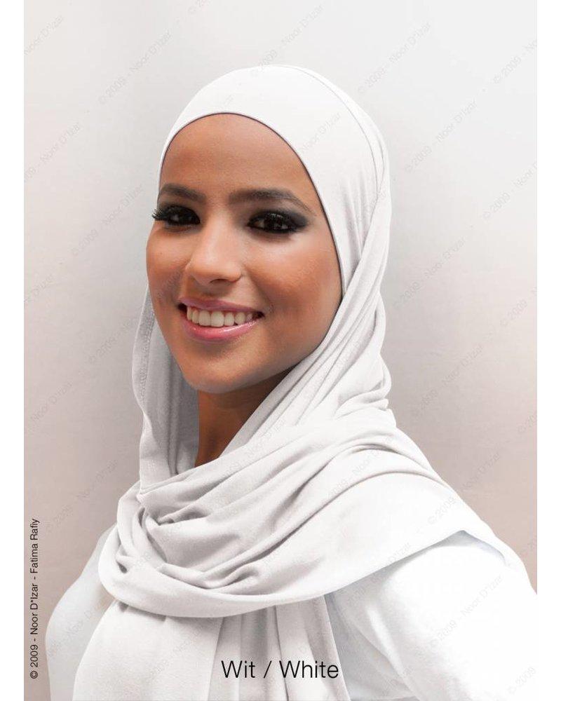 Noor D*Izar Indira hoofddoek - Wit