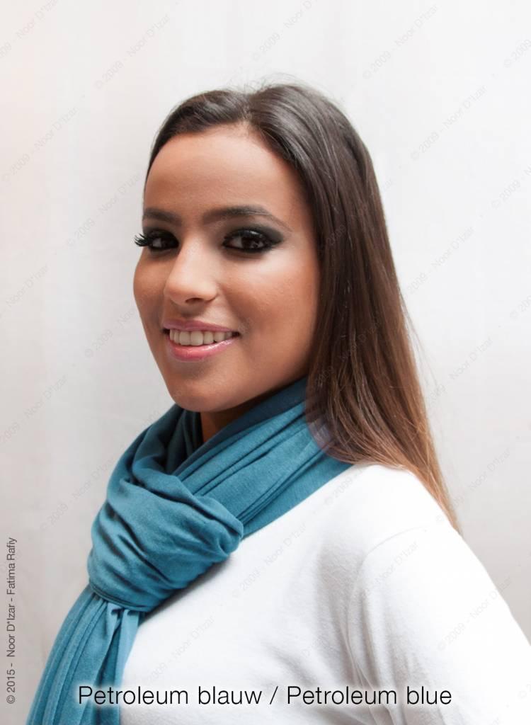 Maysa sjaal - Petroleum blauw