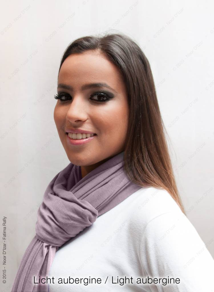 Maysa sjaal - Licht Aubergine