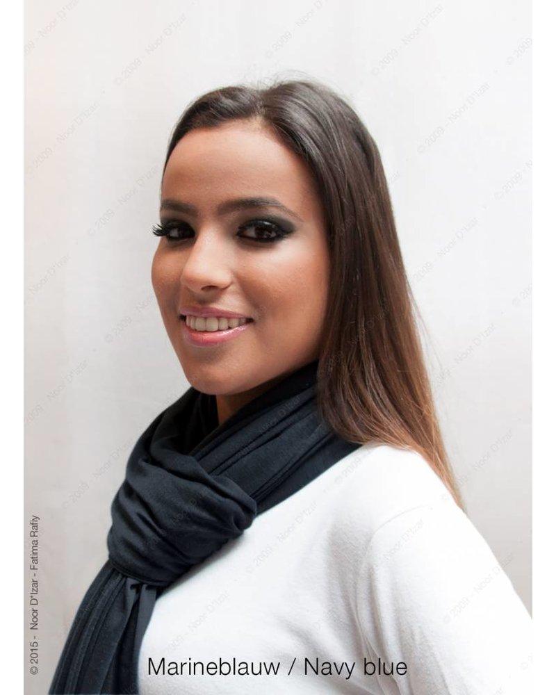 Maysa sjaal - Marineblauw