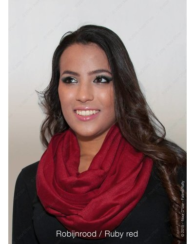 Madina tube scarf - Ruby red