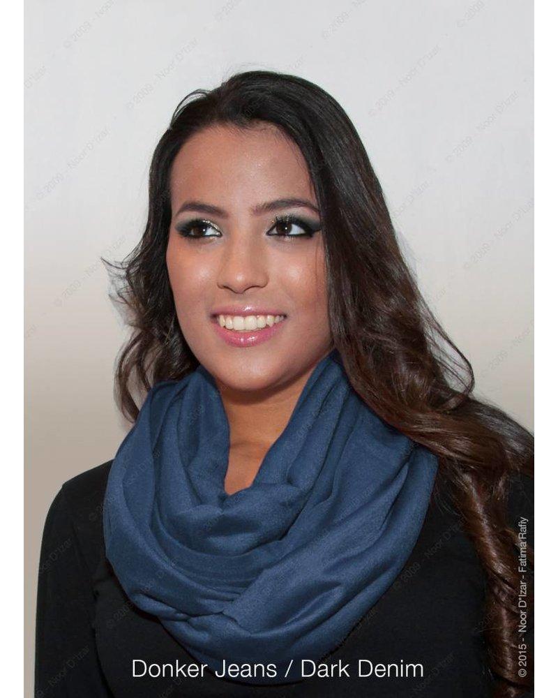 Madina tube scarf - Dark denim colour