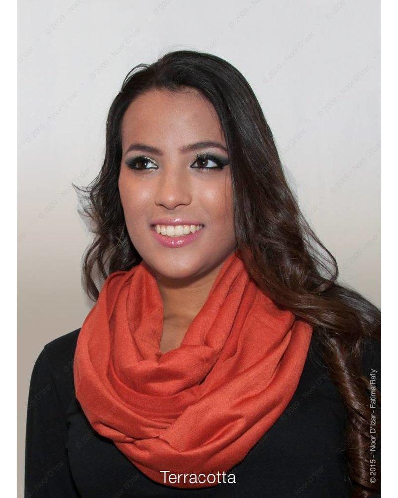 Madina kokersjaal - Terracotta kleur
