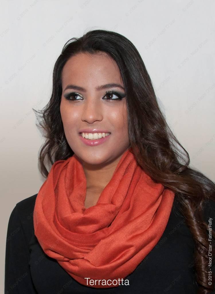 Madina tube scarf - Terracotta colour