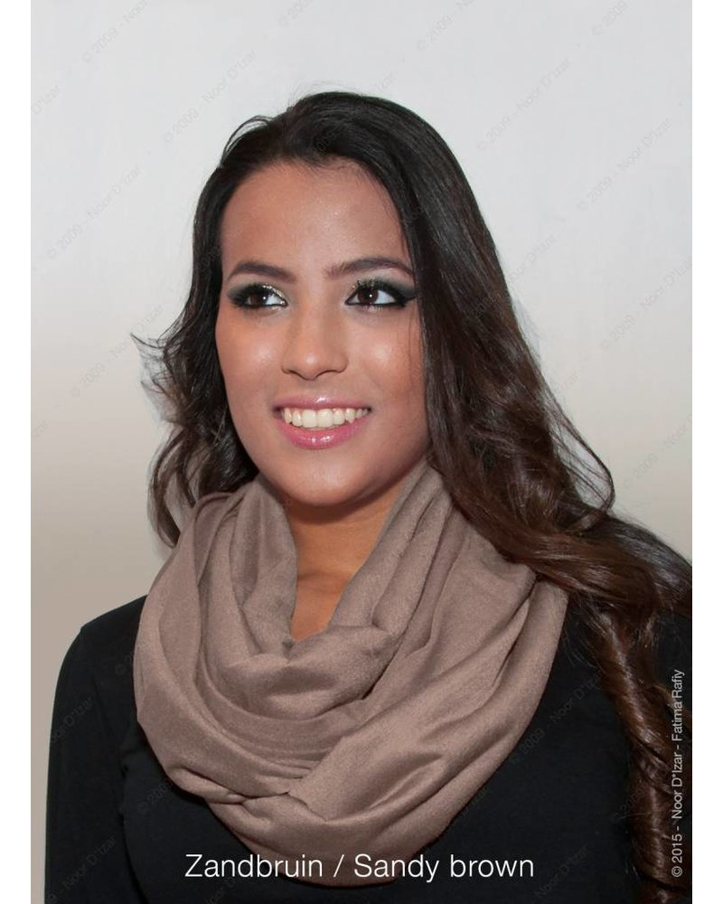 Madina tube scarf - Sandy brown