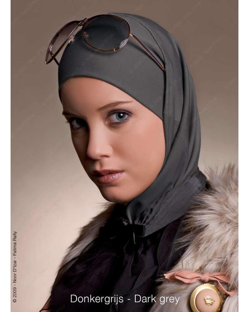 Noor D*Izar Imsar hijab - Dark grey
