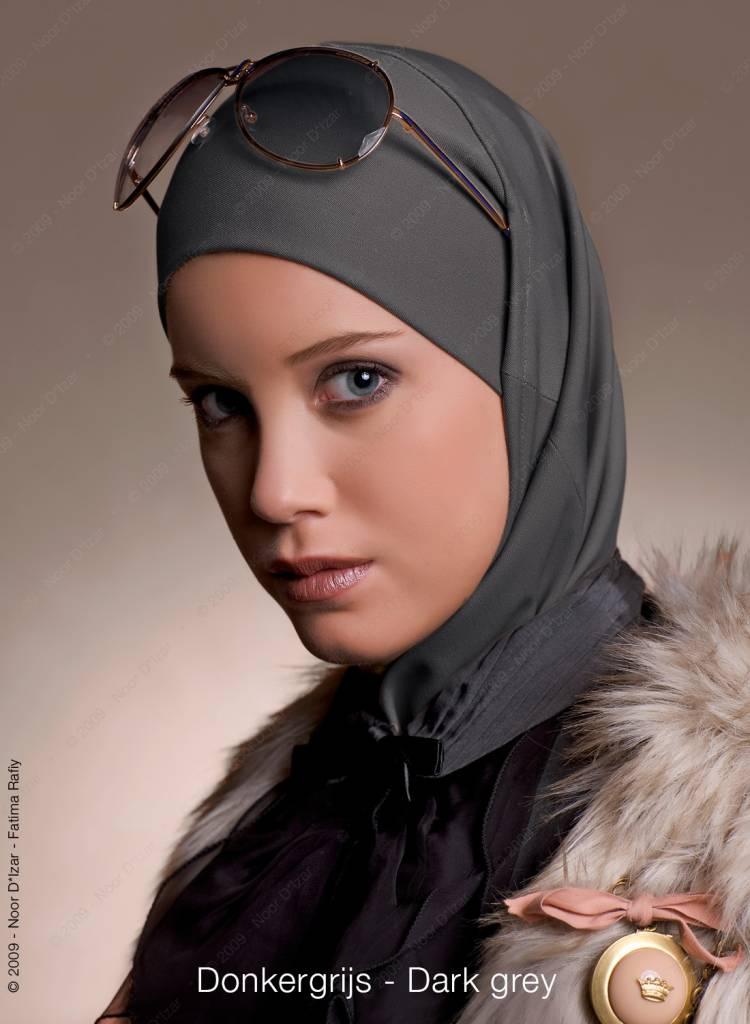 Noor D*Izar Imsar hoofddoek - Donker grijs