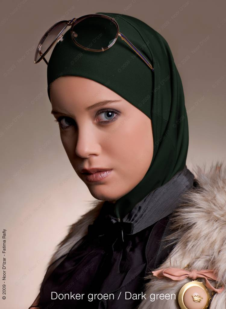 Noor D*Izar Imsar hoofddoek - Donker groen