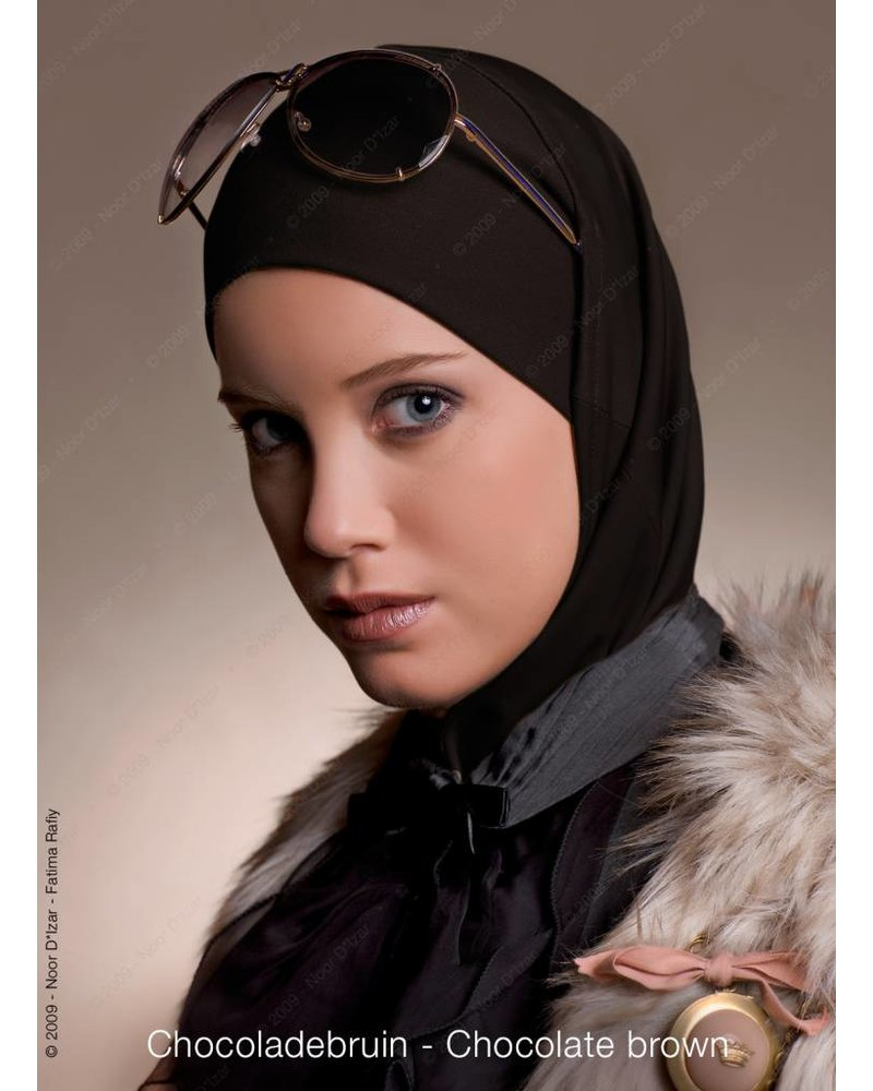 Noor D*Izar Imsar hijab - Chocolate brown
