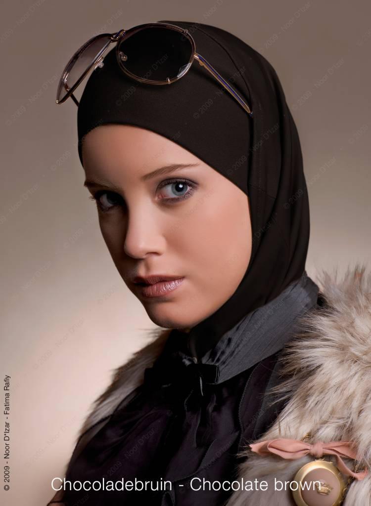Noor D*Izar Imsar hijab - Chocolate brown