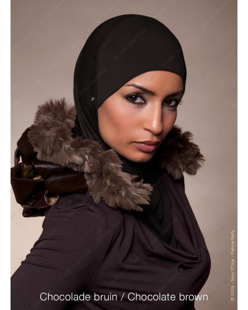Noor D*Izar Suraya hoofddoek - Chocolade bruin
