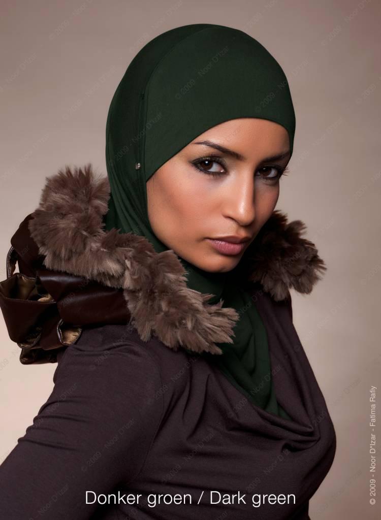 Noor D*Izar Suraya hoofddoek - Donker groen