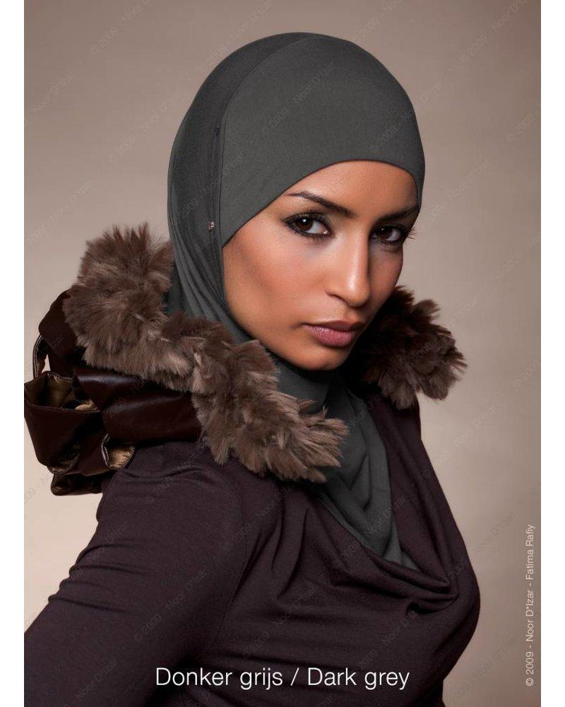 Noor D*Izar Suraya hoofddoek - Donker grijs