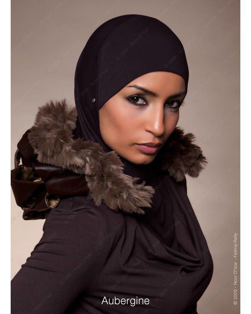 Noor D*Izar Suraya hoofddoek - Aubergine