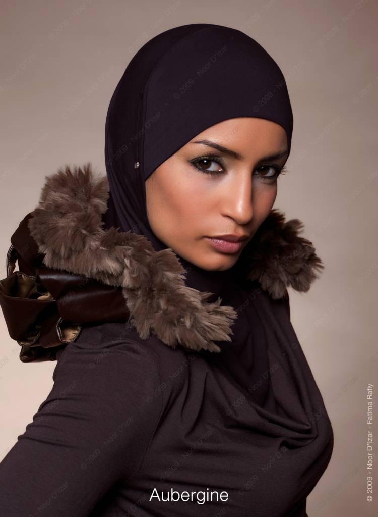 Noor D*Izar Suraya hijab - Aubergine