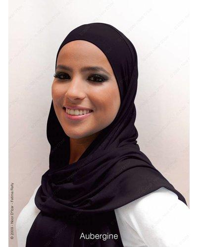 Noor D*Izar Indira hoofddoek - Aubergine