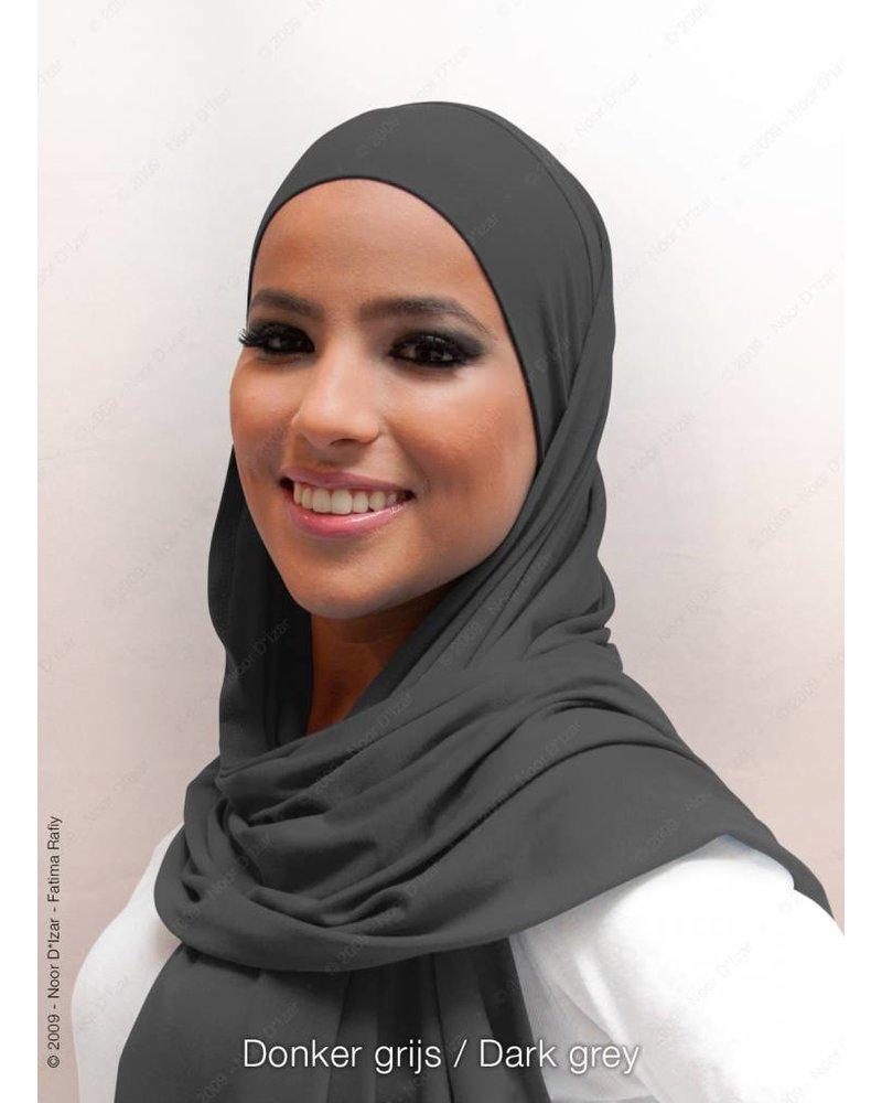 Noor D*Izar Indira hoofddoek - Donker grijs