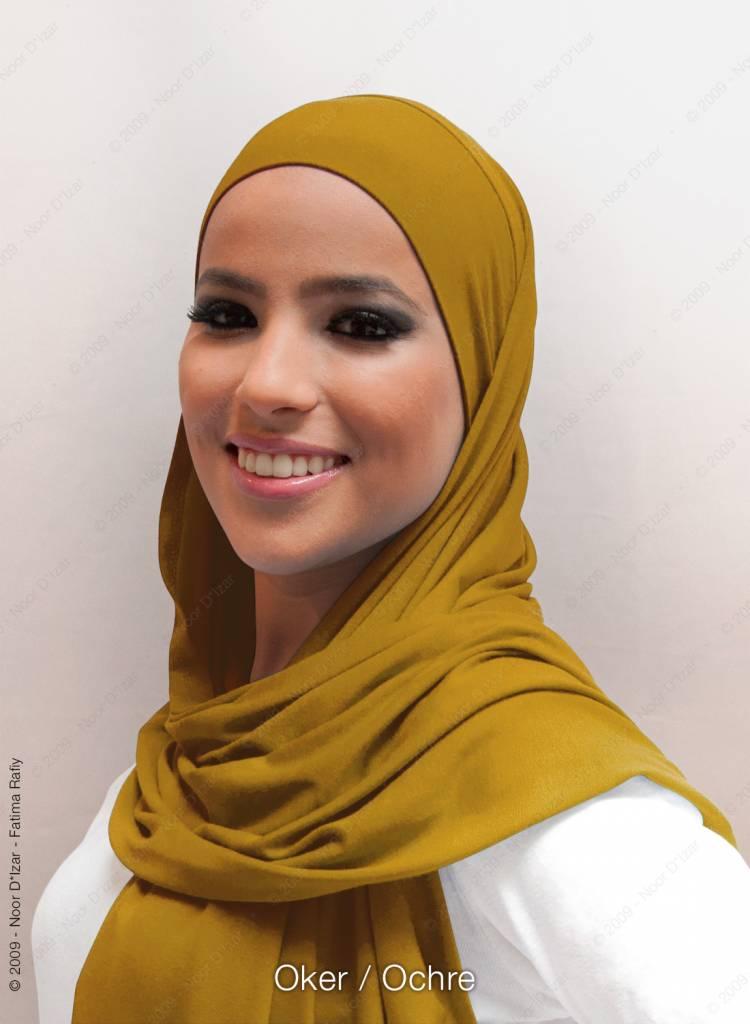 Noor D*Izar Indira hoofddoek - Oker