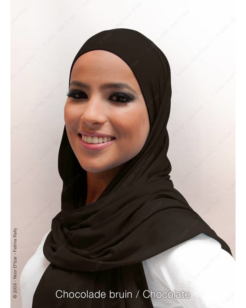 Noor D*Izar Indira hijab - Chocolate brown
