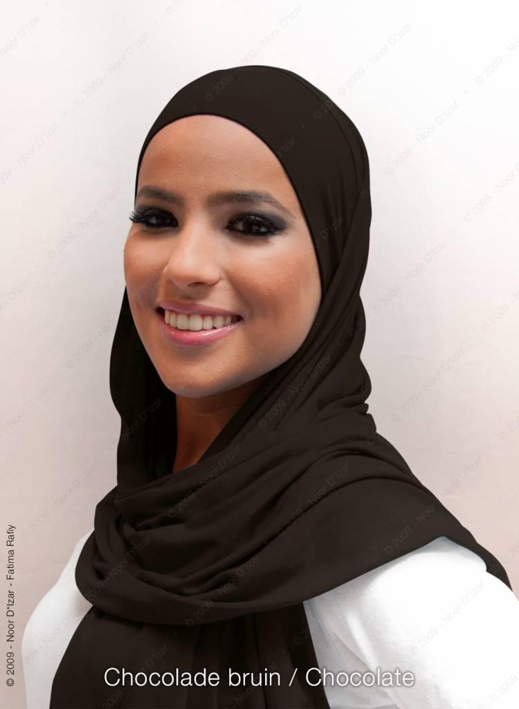 Noor D*Izar Indira hoofddoek - Chocolade bruin