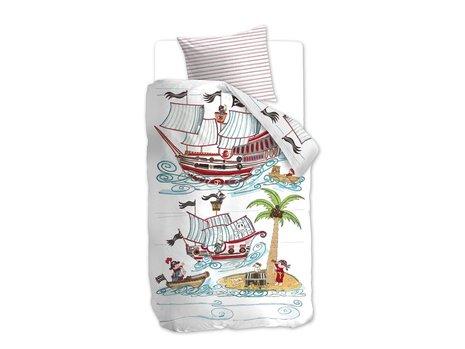Beddinghouse Kids Pirate Ship Dekbedovertrek - Blauw