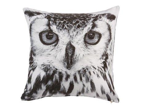 KAAT Amsterdam Owl Sierkussen - Zwart