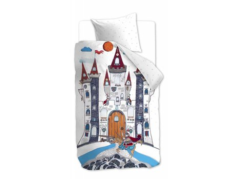 Beddinghouse Kids Dragon Castle Dekbedovertrek - Grijs