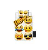 Lusanna.nl Kinderdekbedovertrek Emoji Family White
