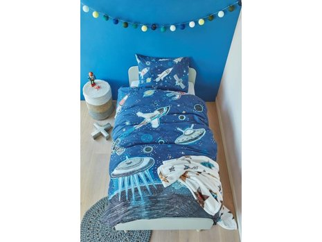 Beddinghouse Kids Space Dekbedovertrek - Blauw