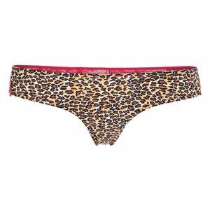 Bésame String im sexy Leo-Design mit Spitze in Pink