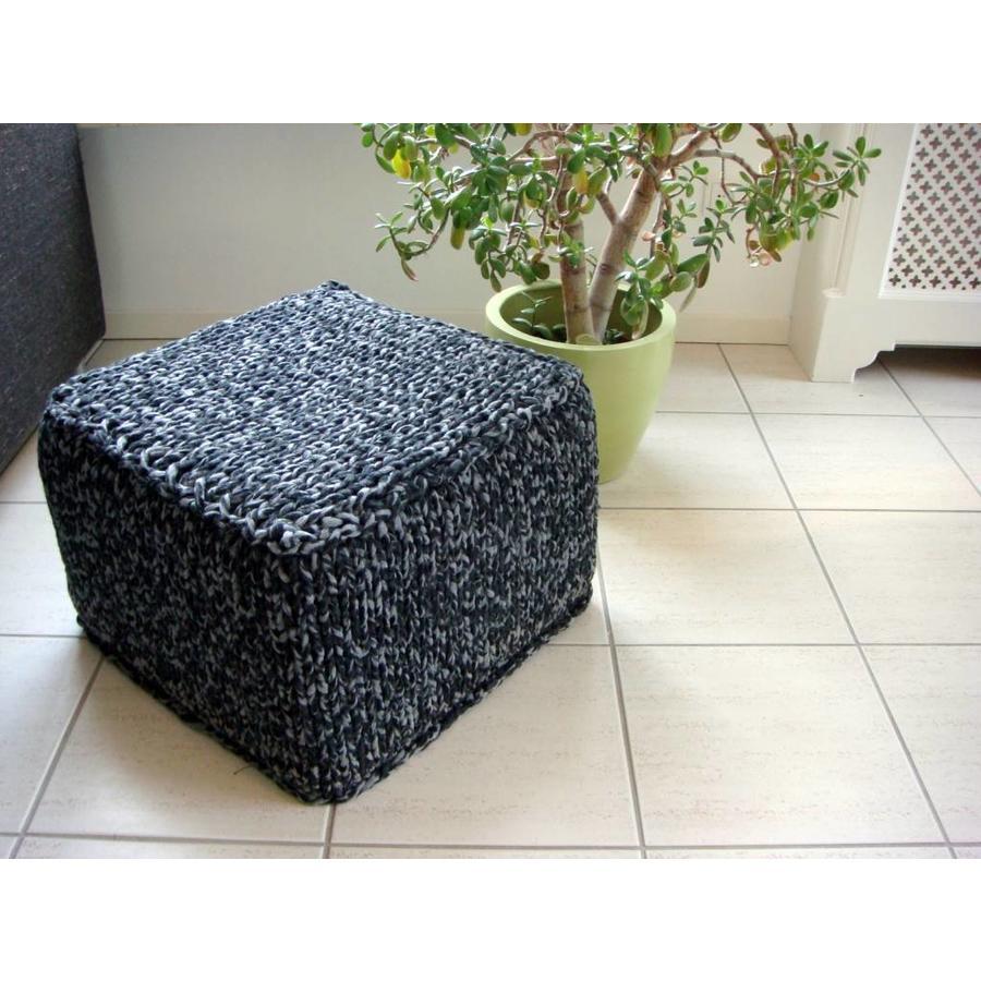 Vierkante Poef - 40 x 40 x 20 cm-3