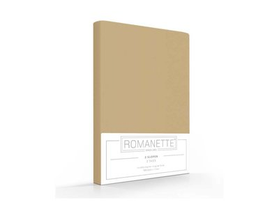 Romanette Kussenslopen - Katoen - Camel - 2 stuks