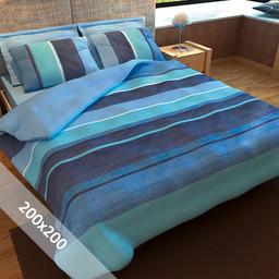 Sofiben® Dekbedovertrek - Blue Sea - 200x200 cm