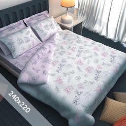 Sofiben® Dekbedovertrek - Floresse - 240x220 cm